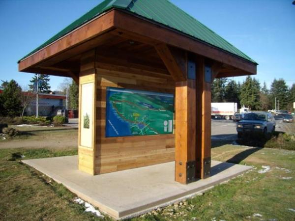 Cedar Park Wayfinder Sign